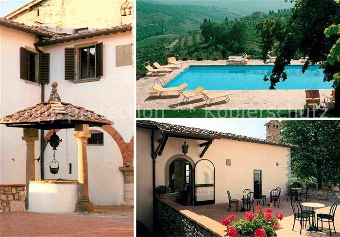 AK / Ansichtskarte Radda in Chianti Relais Fattoria Vignale Pension Gaststaette Swimming Pool Brunnen