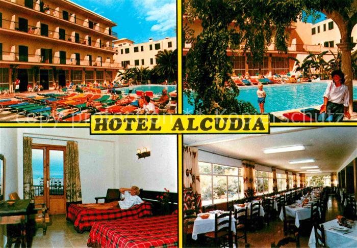 AK / Ansichtskarte Puerto de Alcudia Hotel Alcudia Swimmingpool Zimmer Speisesaal Kat. Alcudia Mallorca