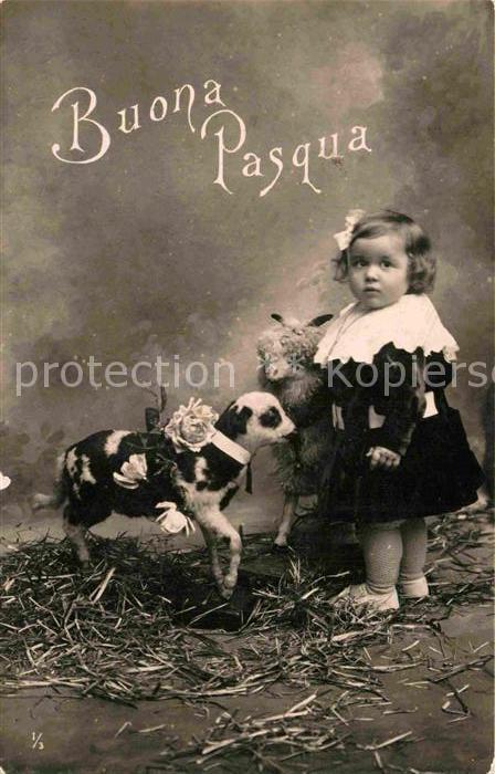 AK / Ansichtskarte Ostern Easter Paques Kind Lamm Pasqua Kat. Greetings