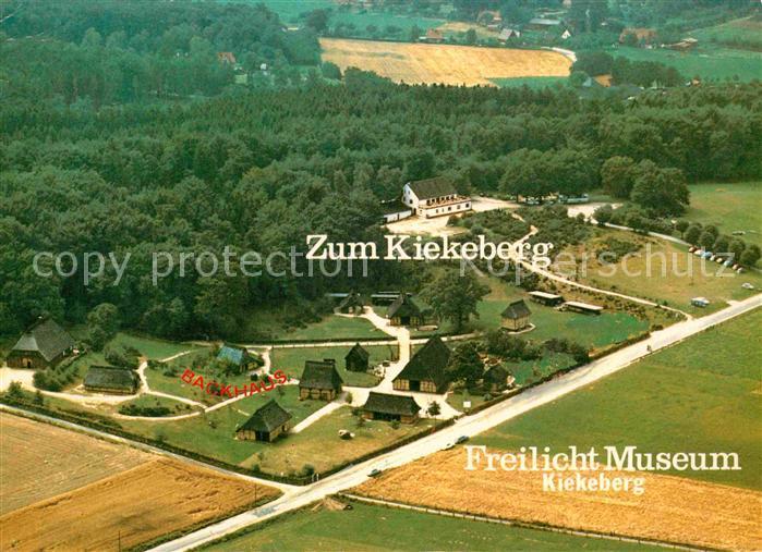 AK / Ansichtskarte Ehestorf Harburg Freilichtmuseum Zum Kiekeberg Fliegeraufnahme Kat. Rosengarten