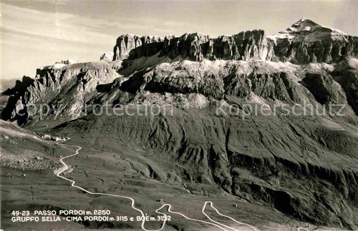 AK / Ansichtskarte Passo Pordoi Gruppo Sella Cima Pordoi Kat. Italien