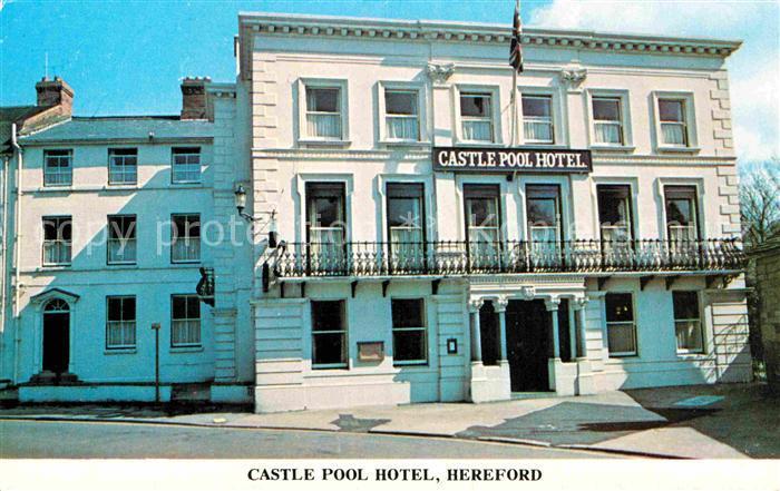 AK / Ansichtskarte Hereford UK Castle Pool Hotel 0