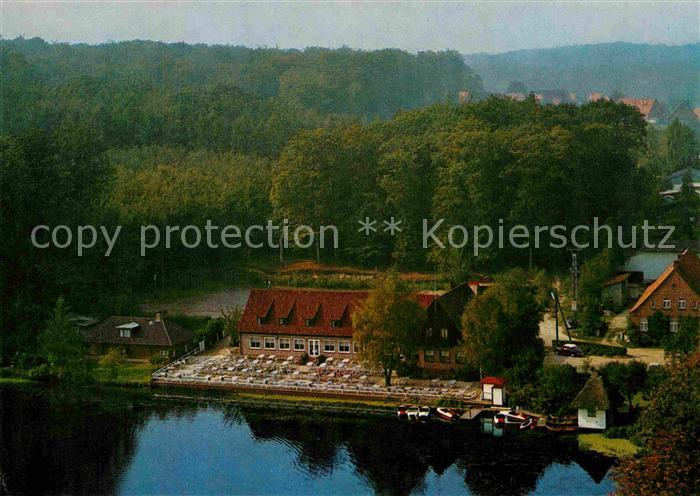 AK / Ansichtskarte Neukloster Niederelbe Beckmanns Klosterkrug Hotel Restaurant Fliegeraufnahme Kat. Buxtehude