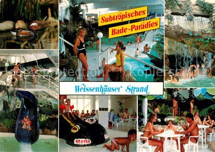 Ak Ansichtskarte Weissenhaeuser Strand Subtropisches Badeparadies