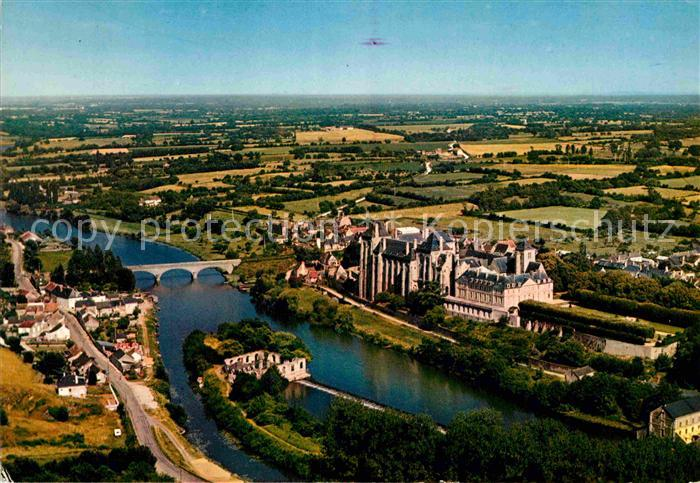 AK / Ansichtskarte La Sarthe (Departm.) Fliegeraufnahme mit Bruecke