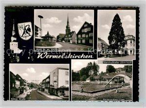 AK / Ansichtskarte Wermelskirchen Markt evangelische Kirche Mammutkiefer Koelner Strasse Waldstrandbad Kat. Wermelskirchen