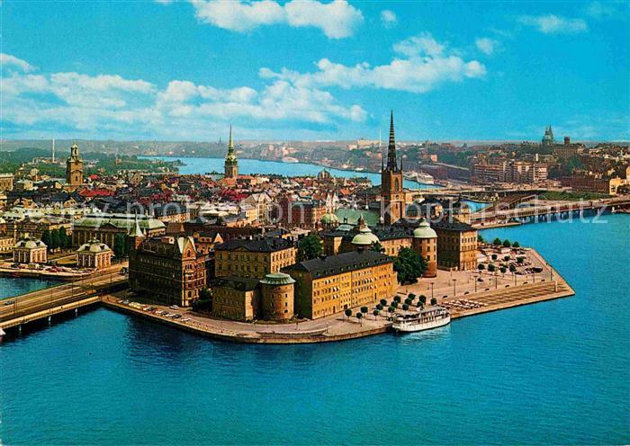 AK / Ansichtskarte Stockholm Fliegeraufnahme Riddarholmen Kat. Stockholm