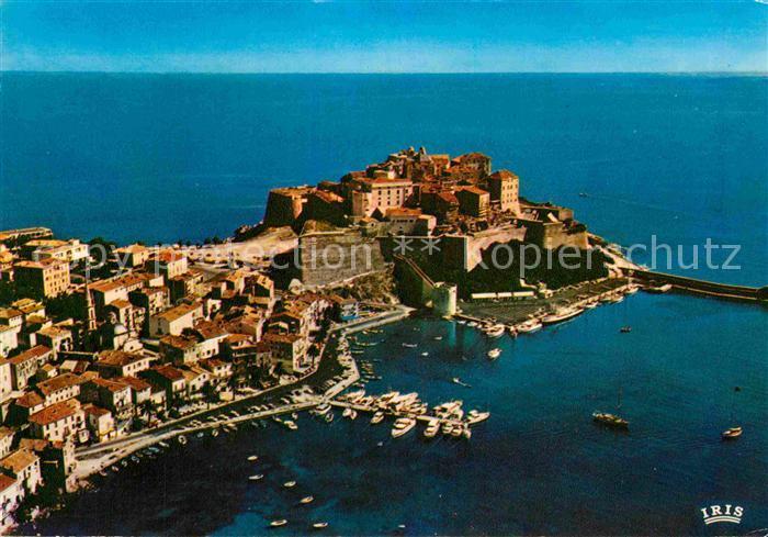 AK / Ansichtskarte Calvi Vue aerienne de la Ville Marine Citadelle Collection Charmes et Couleurs de la Corse Kat. Calvi
