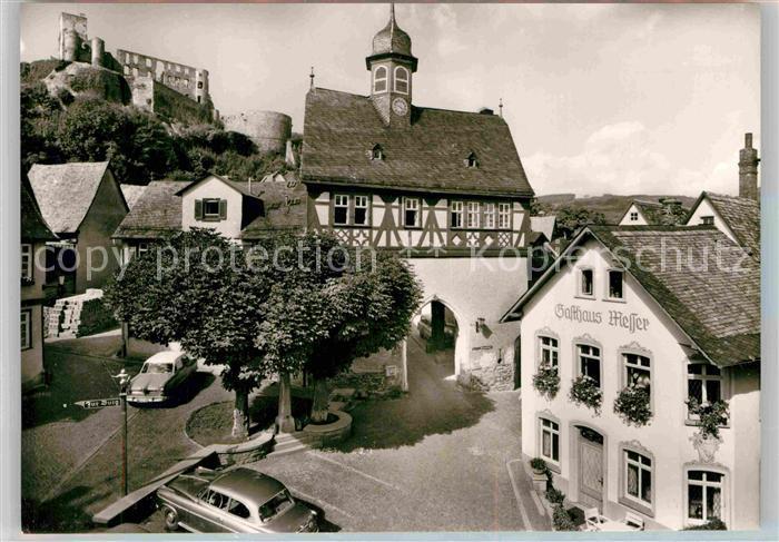 AK / Ansichtskarte Koenigstein Taunus Altes Rathaus Ruine Kat. Koenigstein im Taunus