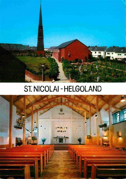 AK / Ansichtskarte Helgoland St Nicolai Kirche Inneres Kat. Helgoland