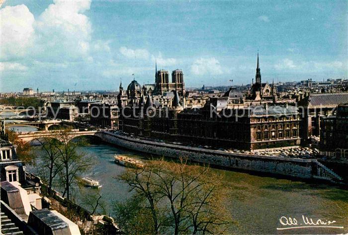 AK / Ansichtskarte Paris La Seine le Palais de Justice Kat. Paris