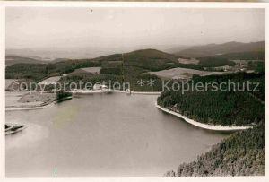 AK / Ansichtskarte Listertalsperre Luftaufnahme Staumauer Kat. Attendorn