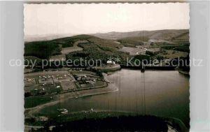 AK / Ansichtskarte Listertalsperre Hafen Staumauer Luftaufnahme Kat. Attendorn