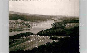 AK / Ansichtskarte Listertalsperre Luftaufnahme Campingplatz Kat. Attendorn