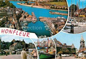 AK / Ansichtskarte Honfleur Le Vieux Bassin Le port La place Sainte Catherine Kat. Honfleur
