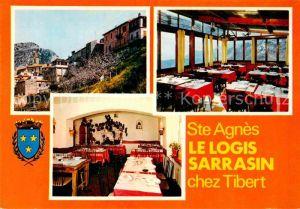 AK / Ansichtskarte Sainte Agnes Nice Le Logis Sarrasin Chez Tibert Restaurant Hotel Kat. Sainte Agnes