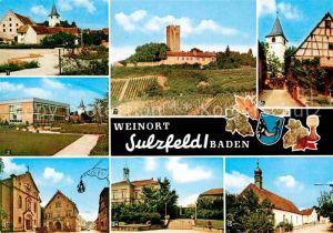 AK / Ansichtskarte Sulzfeld Baden Rathaus Hauptstrasse Bachstrasse Ravensburg Kat. Sulzfeld