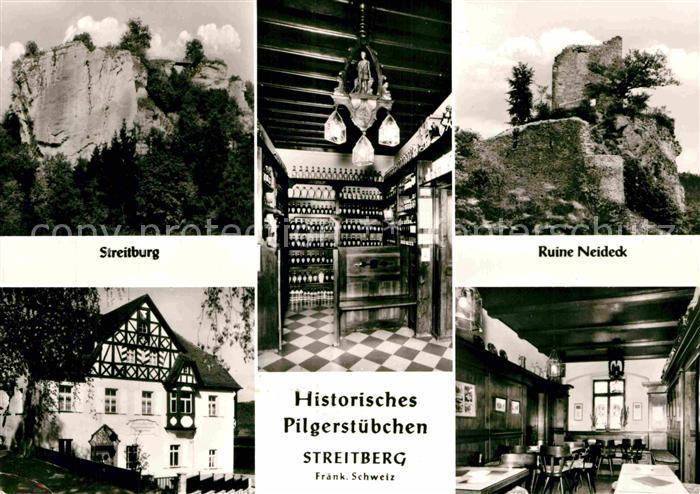 AK / Ansichtskarte Streitberg Oberfranken Streitburg Ruine Neideck Pilgerstube Kat. Wiesenttal