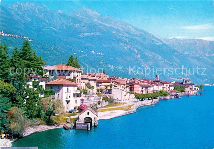 Karte Lago Maggiore Und Umgebung.Ak Ansichtskarte Cannobio Lago Maggiore Panorama Kat Italien