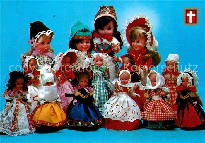 AK / Ansichtskarte Puppen Daenemark Nationale Puppen Trachten  Kat. Spielzeug