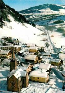 AK / Ansichtskarte Praz sur Arly Fliegeraufnahme mit Kirche Kat. Praz sur Arly