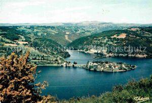 AK / Ansichtskarte Sarrans Lac de Fliegeraufnahme Barrage Kat. Sainte Genevieve sur Argence