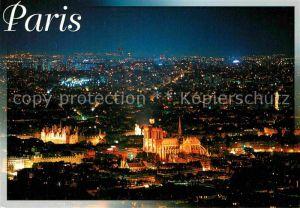 AK / Ansichtskarte Paris Hotel de Ville et la Cathedrale Notre Dame Kat. Paris