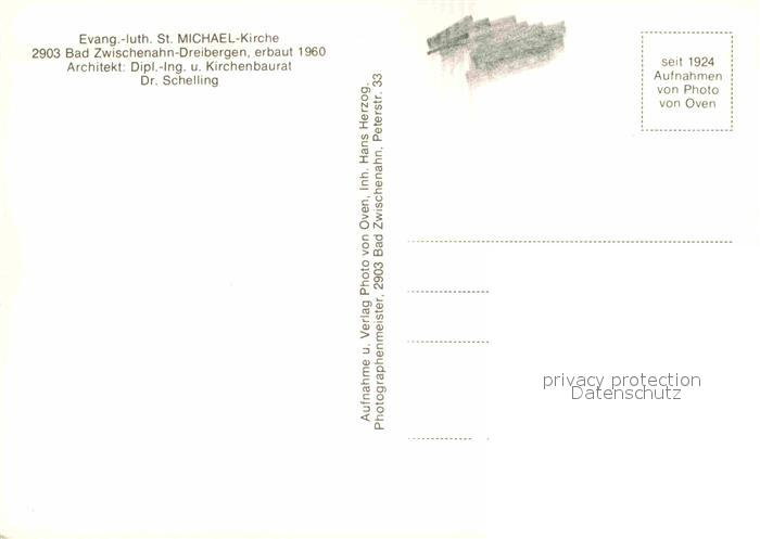 Architekt Bad Zwischenahn ak ansichtskarte dreibergen bad ev luth st michael kirche bad