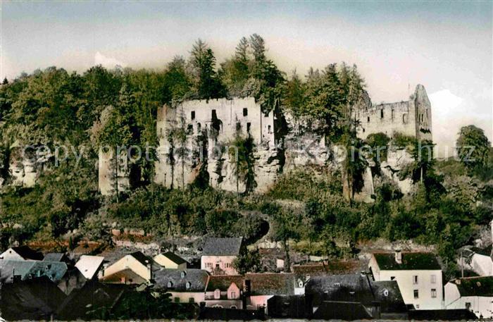 AK / Ansichtskarte Larochette Luxembourg Les ruines du chateau feodal Kat. Luxemburg