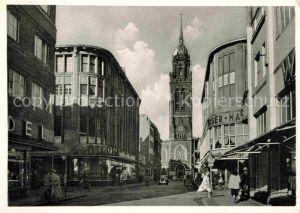 AK / Ansichtskarte Krefeld Rheinstrasse mit Dionysiuskirche Kat. Krefeld