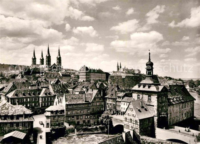 AK / Ansichtskarte Bamberg Blick vom Geyerswoerthturm auf die Altstadt Dom Michelsberg Kat. Bamberg