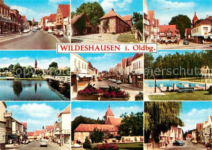 AK / Ansichtskarte Wildeshausen Orts und Teilansichten Kirche Schwimmbad Kat. Wildeshausen