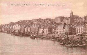 AK / Ansichtskarte Boulogne sur Mer Avant Port et le Quai Gambetta Kat. Boulogne sur Mer