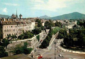 AK / Ansichtskarte Geneve GE La rampe de la Treille Immeubles Rue des Granges Rue St Piere Kat. Geneve