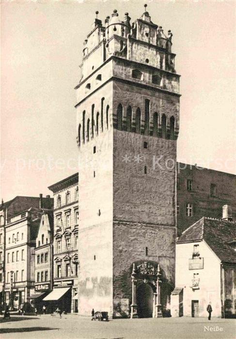 AK / Ansichtskarte Neisse Oberschlesien Breslauer Torturm Kat. Nysa