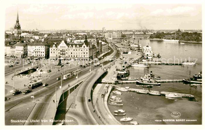 AK / Ansichtskarte Stockholm Utsikt fran Katarinahissen Kat. Stockholm