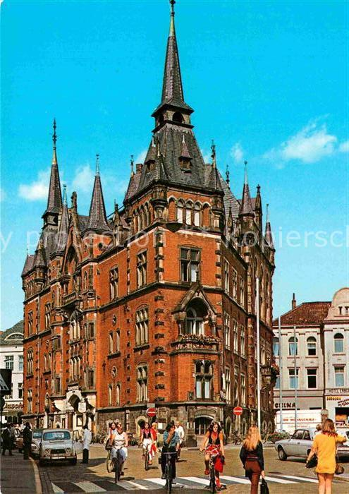 ak oldenburg markt mit rathaus nr 7420787 oldthing ansichtskarten deutschland plz 20 29. Black Bedroom Furniture Sets. Home Design Ideas