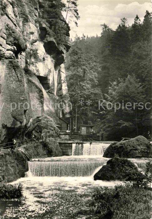 AK / Ansichtskarte Ceske Svycarsko Wasserfall Kat. Tschechische Republik