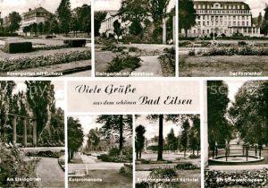 AK / Ansichtskarte Bad Eilsen Rosengarten Steingarten Kurpromenade Fuerstenhof Badehaus Kat. Bad Eilsen