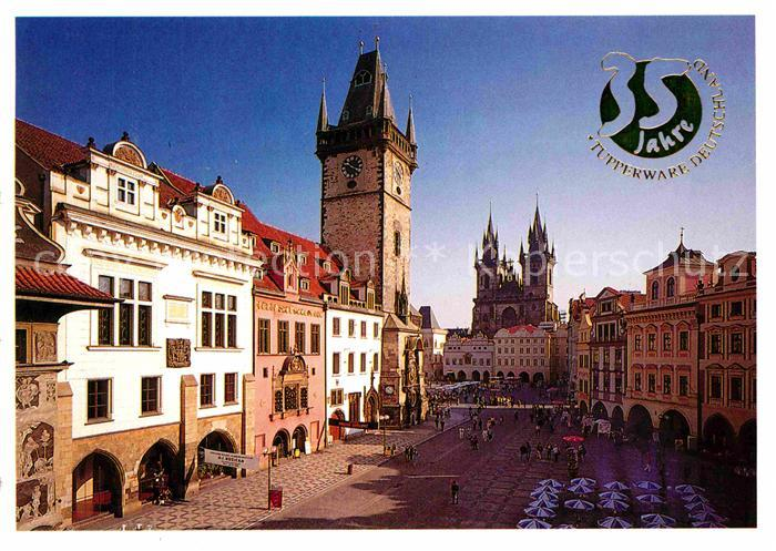 AK / Ansichtskarte Praha Prahy Prague Staromestske Namesti Altstaedter Ring Rathaus Teynkirche Kat. Praha