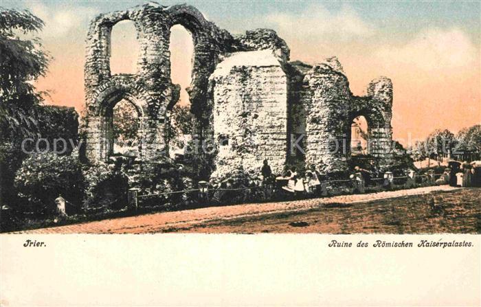 AK / Ansichtskarte Trier Ruine des Roemischen Kaiserpalastes Kat. Trier