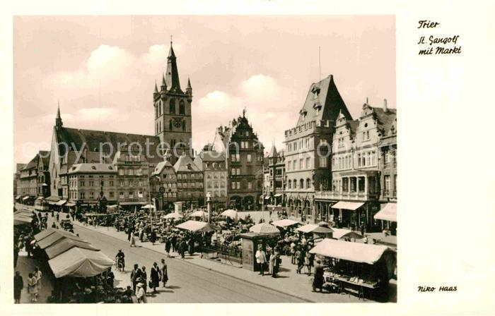 AK / Ansichtskarte Trier St Gangolf mit Markt Kat. Trier