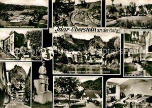 AK / Ansichtskarte Idar Oberstein Schwimmbad Gewerbehalle Hauptstrasse Felsenkirche Inneres  Kat. Idar Oberstein