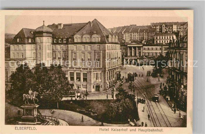 Ak m nchen hauptbahnhof haupteingang und kaiserhof nr for Hotel wuppertal elberfeld