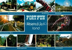 AK / Ansichtskarte Bestwig Wasserfall Hochsauerland Fort Fun Abenteuerland Riesenrad Achterbahn Kat. Bestwig