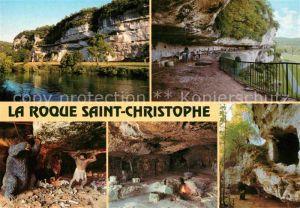 AK / Ansichtskarte Peyzac le Moustier La Roque Saint Christophe Vallee de la Vezere Station Prehistorique Kat. Peyzac le Moustier
