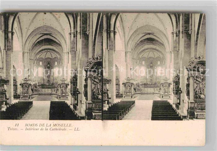 AK / Ansichtskarte Treves Trier Interieur de la Cathedrale Stereokarte