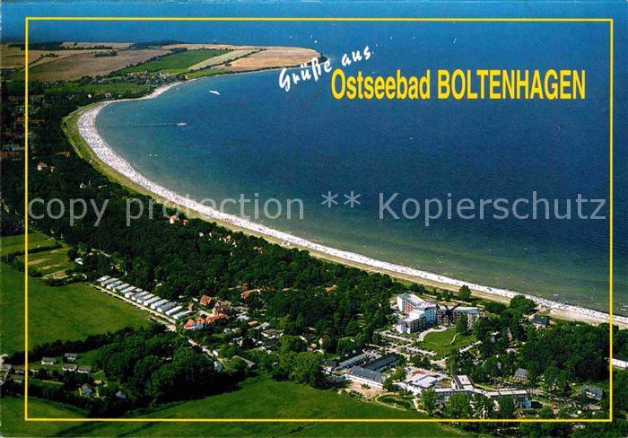 AK / Ansichtskarte Boltenhagen Ostseebad Fliegeraufnahme mit Strand Kat. Ostseebad Boltenhagen