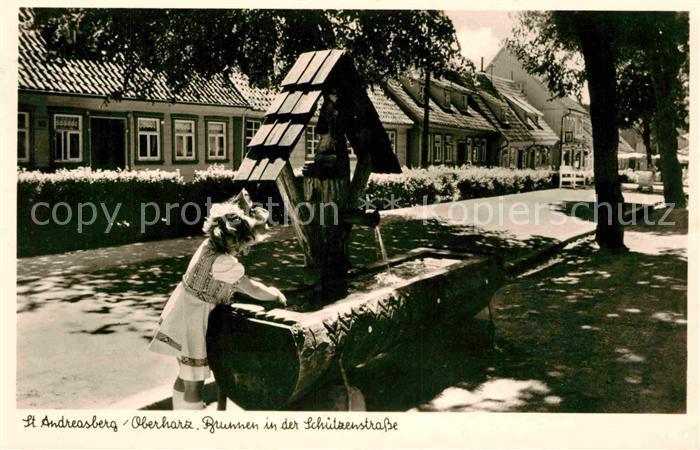AK / Ansichtskarte St Andreasberg Harz Brunnen in der Schuetzenstrasse Kat. Sankt Andreasberg