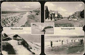 AK / Ansichtskarte Wenningstedt Sylt Strand Strasse Duene Brandung Kat. Wenningstedt Braderup (Sylt)